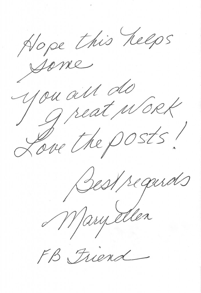 Testimonial - Maryellen donation no date